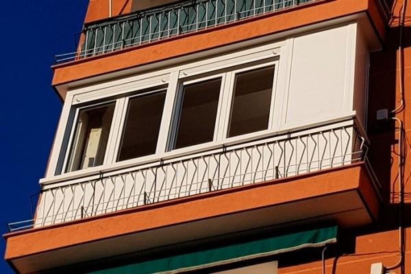 cerramiento de una terraza en aluminio